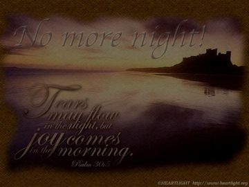 PowerPoint Background: Psalm 30:5 - Dark
