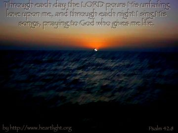 PowerPoint Background: Psalm 42:8 - Sunset
