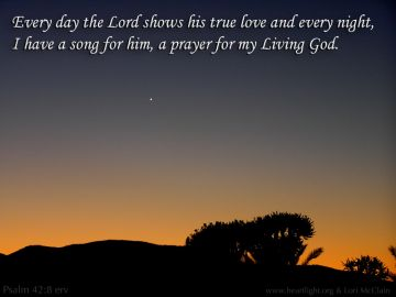 PowerPoint Background: Psalm 42:8 Text