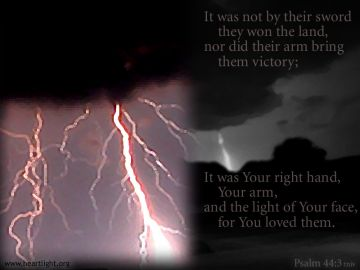 PowerPoint Background: Psalm 44:3 Light Text