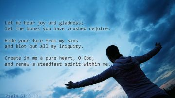 PowerPoint Background: Psalm 51:8-10 Text
