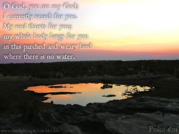 PowerPoint Background: Psalm 63:1 Text