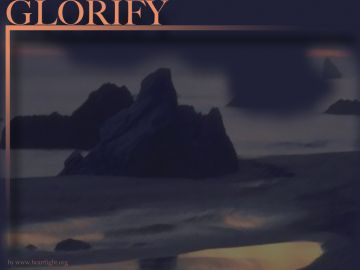 PowerPoint Background: Psalm 63:3 - Glorify