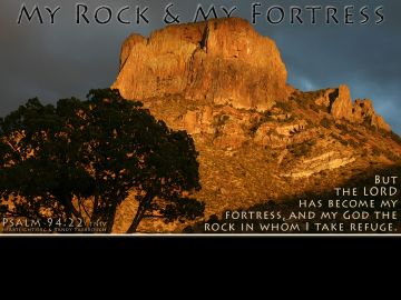 PowerPoint Background: Psalm 94:22 4/3 Full