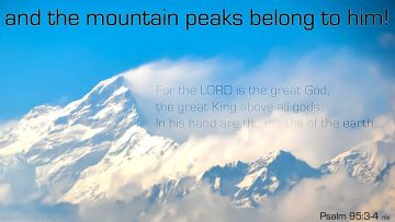 PowerPoint Background: Psalm 95:3-4 Full