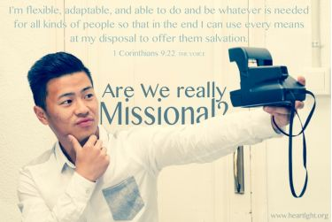 Illustration of the Bible Verse 1 Corinthians 9:22 RWE Missional?