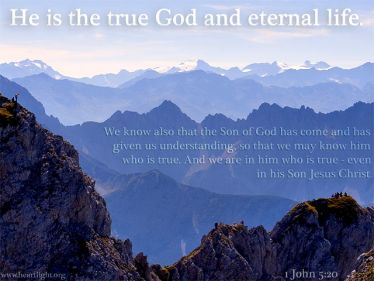 Illustration of the Bible Verse 1 John 5:20