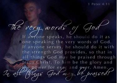 Illustration of the Bible Verse 1 Peter 4:11