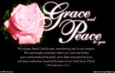 Illustration of the Bible Verse 1 Thessalonians 1:1-2
