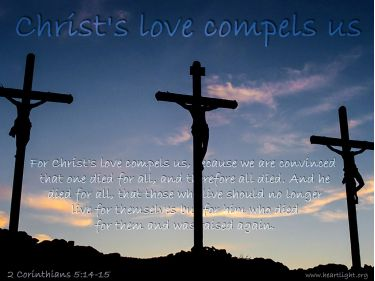 Illustration of the Bible Verse 2 Corinthians 5:14-15
