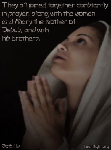 Illustration of the Bible Verse Acts 1:14 Mary