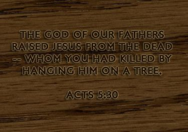 Illustration of the Bible Verse Acts 5:30