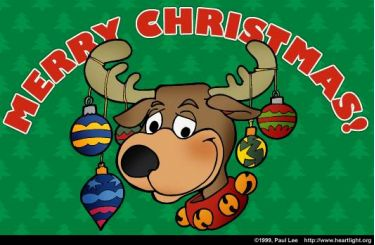 Illustration of the Bible Verse Christmas Reindeer