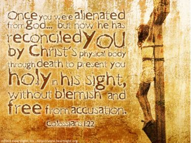 Illustration of the Bible Verse Colossians 1:22