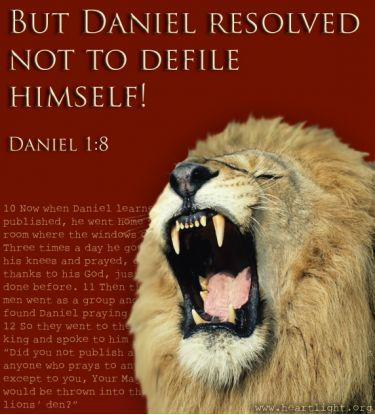 Illustration of the Bible Verse Daniel 1:8