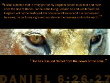 Illustration of the Bible Verse Daniel 6:26-27