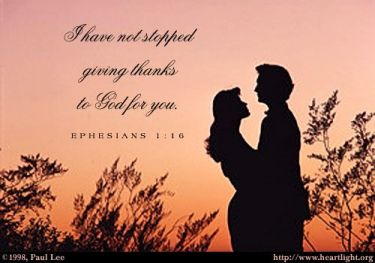 Illustration of the Bible Verse Ephesians 1:16