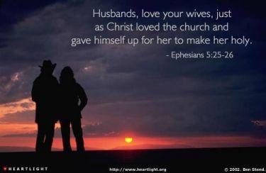 Illustration of the Bible Verse Ephesians 5:25-26