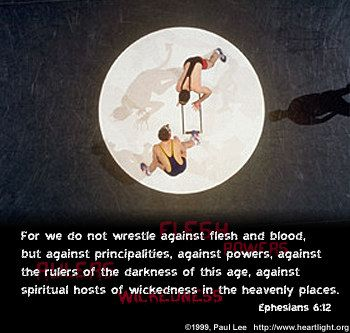 Illustration of the Bible Verse Ephesians 6:12