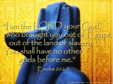 Illustration of the Bible Verse Exodus 20:2-3