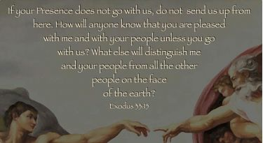 Illustration of the Bible Verse Exodus 33:15