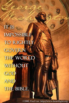 Illustration of the Bible Verse G. Washington