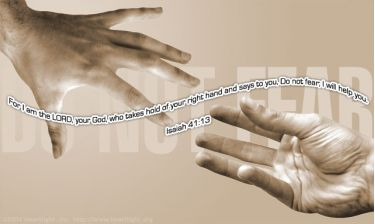 Illustration of the Bible Verse Isaiah 41:13