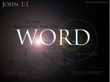 Illustration of the Bible Verse John 1:1 Gallery