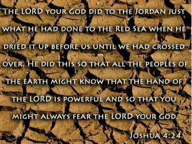 Illustration of the Bible Verse Joshua 4:24