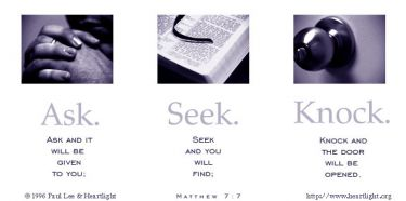 Illustration of the Bible Verse Matthew 7:7