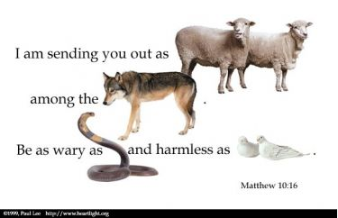 Illustration of the Bible Verse Matthew 10:16