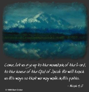 Illustration of the Bible Verse Micah 4:2