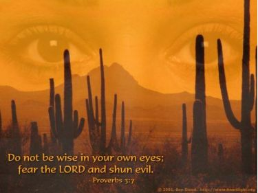 Illustration of the Bible Verse Proverbs 3:7
