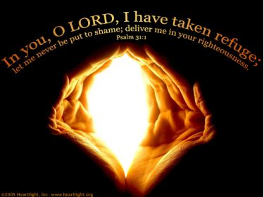 Illustration of the Bible Verse Psalm 31:1