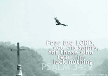Illustration of the Bible Verse Psalm 34:9