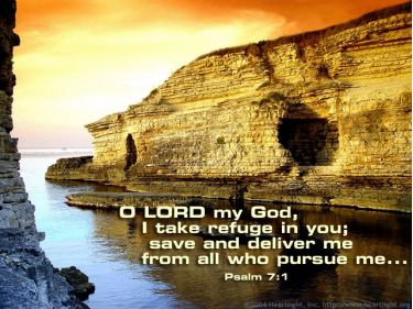 Illustration of the Bible Verse Psalm 7:1