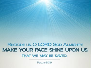 Illustration of the Bible Verse Psalm 80:19