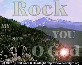Illustration of the Bible Verse Rock