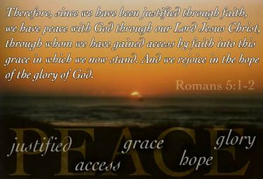 Illustration of the Bible Verse Romans 5:1-2