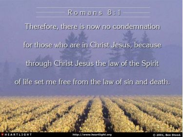 Illustration of the Bible Verse Romans 8:1