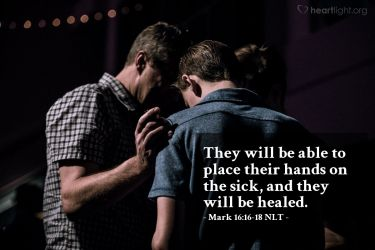 Illustration of the Bible Verse Mark 16:16-18 NLT