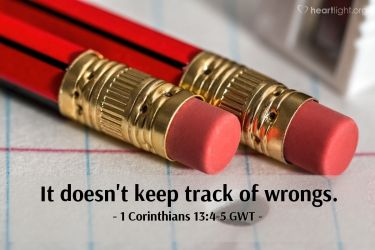 Illustration of the Bible Verse 1 Corinthians 13:4-5 GWT
