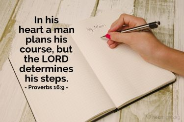 Illustration of the Bible Verse Proverbs 16:9