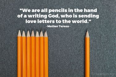 Illustration of the Bible Verse Quote by Mother Teresa