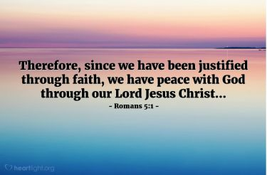 Illustration of the Bible Verse Romans 5:1