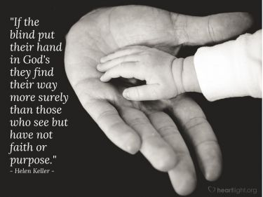 Illustration of the Bible Verse Quote by Helen Keller