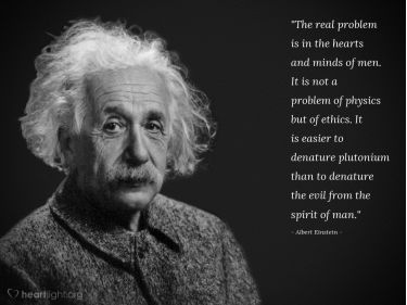 Illustration of the Bible Verse Quote by Albert Einstein