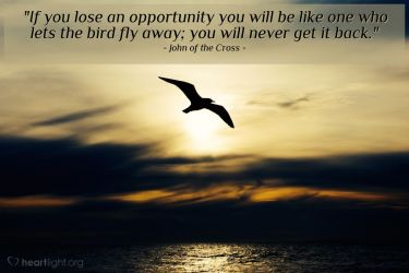 Illustration of the Bible Verse Quote by John of the Cross
