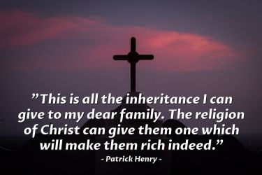 Illustration of the Bible Verse Quote by Patrick Henry