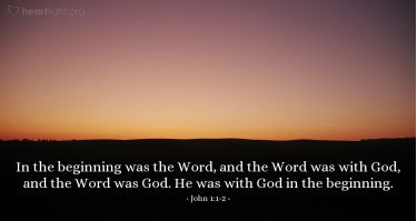 Illustration of the Bible Verse John 1:1-2